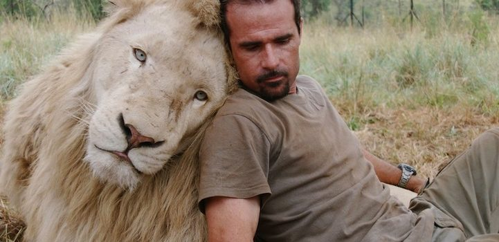 picture of Kevin Richardson - Lion Whisperer with a White Lion