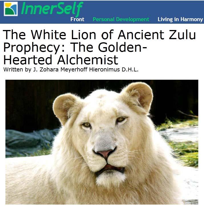 White Spirit Animals, Prophets of Change